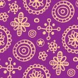 Violet fantasy - seamless pattern - Stock Vector