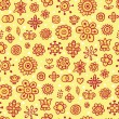 Yellow harvest - cute seamless pattern - Stock Vector