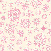 Cute pink wallpaper — Stock Vector