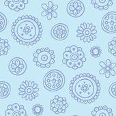 Patrón cian con elementos simples — Vector de stock