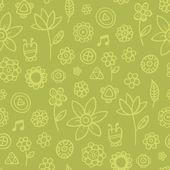 Green harvest - seamless pattern — Stock Vector
