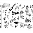 Doodle love elements, St. Valentine — Stock Vector