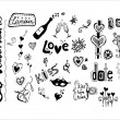 Doodle love elements, St. Valentine — Stock Vector #6828184