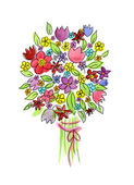 Watercolor hand drawn stick bouquet. — Stock Photo