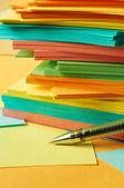 Not kağıdı kalemi — Stok fotoğraf