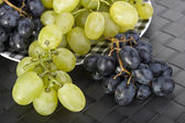Grapes on a plate — Stock Photo