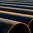 Pipes laid in a row — Stock Photo #6823906