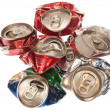 Crushed aluminum cans — Stock Photo #6827401