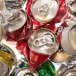 Crushed aluminum cans — Stock Photo #6827405