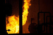 Industrial fire — Stock Photo