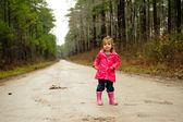 Girl on road — Stock Photo