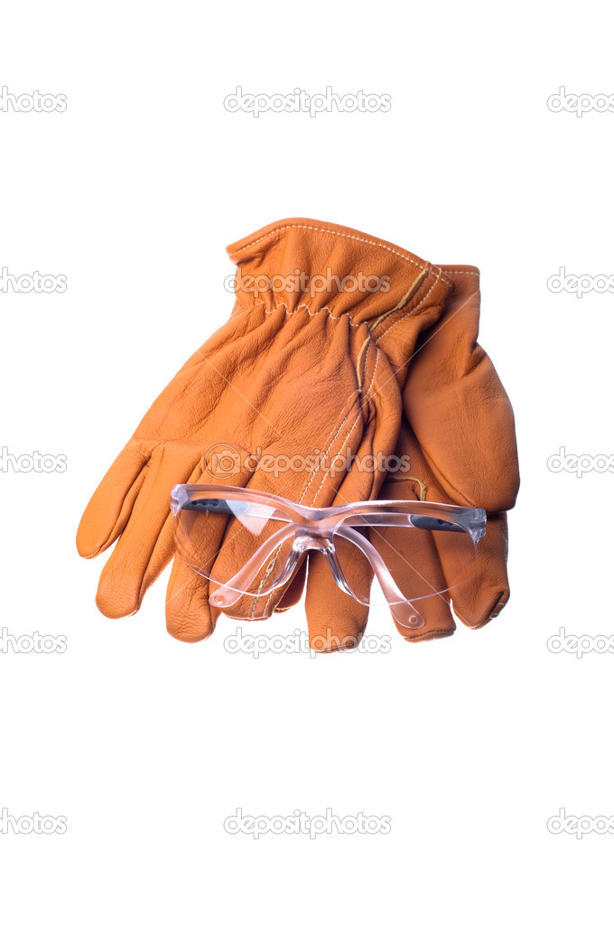 Work gloves and safety glasses — Stock Photo #6827626