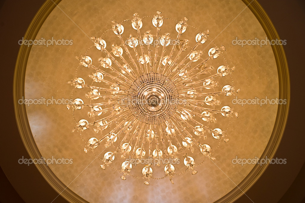 Looking up at a chandelier from below  Stockfoto #6827806