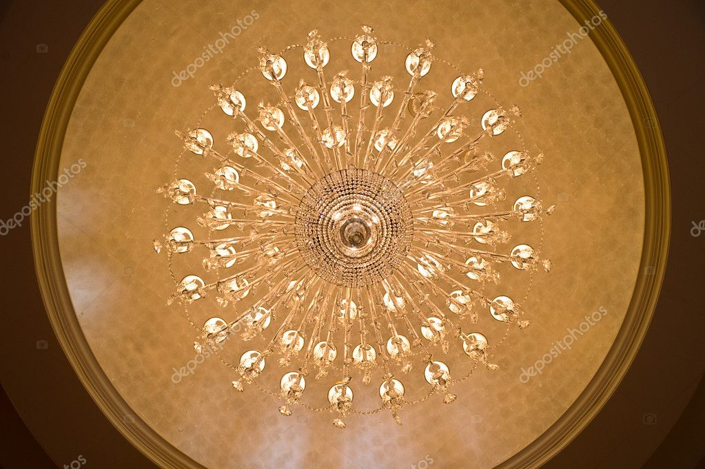 Looking up at a chandelier from below   #6827806
