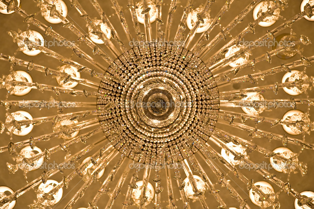 Looking up at a chandelier from below — Stock Photo #6827809
