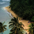 Kee Beach on Kauai, HI USA - Stock Photo