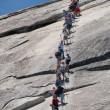 Постер, плакат: On the way to the top of Half Dome