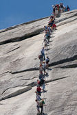 On the way to the top of Half Dome — Stock Photo