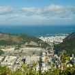 Rio de Janeiro's unique landscape mixing city, mountains, ocean — Stock Photo #7548094
