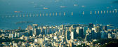 Downtown Rio and the Rio-Niterói Bridge — Stock Photo