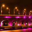 Iluminated Bridge — Stock Photo