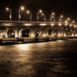 Iluminated Bridge - Stock Photo