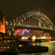Sydney Bridge at night - Stock Photo