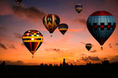 Balloons in the early morning — Stock Photo