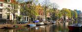 Amsterdam Boats — Stock Photo