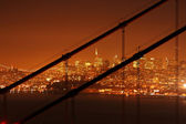 Transamerica Building through the Golden Gate — Stock Photo