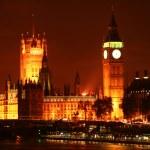Night Shot of the Big Ben — Stock Photo #7582449