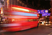 Classic London Bus at Night — Stock Photo