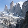 Stock Photo: Torres del paine mountain and lake 2