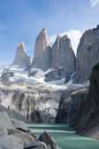 Torres del paine mountain and lake 2 — Foto de Stock