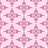 Historical pattern wilhelminian historicism pink — Stock Vector