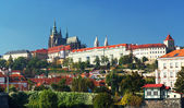 Panorama of Hradcany and Prague Castle — Stock Photo