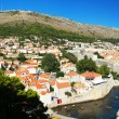 Panorama of the historic center of Dubrovnik in Croatia — Stock Photo