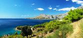 Panoramic photos coast of Omis in Croatia — Stock Photo