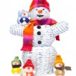 Snowman family — Stock Photo