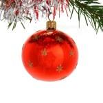 Red christmas ball — Stock Photo #7134557