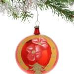 Red christmas ball — Stock Photo #7134644