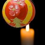 Red christmas ball — Stock Photo #7134744