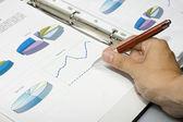 Pen showing diagram — Stock Photo