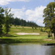 Green of a beautiful golf course - ストック写真