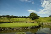 Zelená krásné golfové hřiště — Stock fotografie