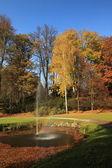 Autumn gof course — Stock Photo