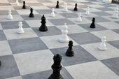 Schach in der meeresgarten von burgas — Stockfoto