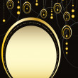 Royalty-Free Stock Vektorfiler: Black and gold background