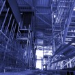 Scaffolding On An industrial construction Site — Stock Photo