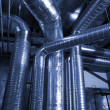 Stock Photo: Ventilation pipes of air condition